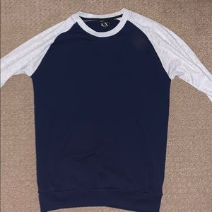 Armani Exchange House Sweater Navy/White